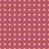 Nice cartoon star pattern with different stars icons on dark background Royalty Free Stock Photo