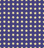 Nice cartoon star pattern with different stars icons on dark background Royalty Free Stock Image