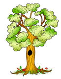 Nice cartoon tree ilustration Stock Image
