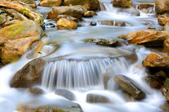 Nice cascade of mountain stream Royalty Free Stock Photography