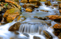 Nice cascade of mountain stream Royalty Free Stock Image