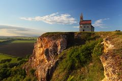 Nice Catholic Chapel in eastern Europe Stock Photo
