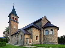 Nice Catholic Church in eastern Europe - village Babin - Orava stock image