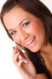 Nice caucasian girl with mobile phone Stock Photo