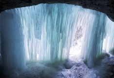 Inside a natural winter cave Royalty Free Stock Image