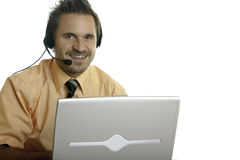 Nice and charming call center agent Royalty Free Stock Images