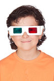 Nice child with 3D glasses Stock Photo