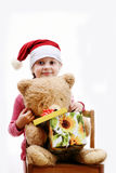 Nice child with gift Royalty Free Stock Photo