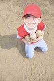 Nice child happy to play baseball. A nice child happy to play baseball Royalty Free Stock Photography