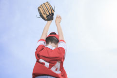 Nice child happy to play baseball Stock Photography