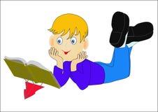 Nice child reading book Stock Photo