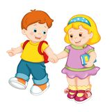 Nice children vector illustration