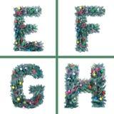 Nice Christmas Alphabet. Beautiful holiday Stock Photo