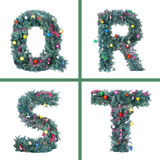 Nice Christmas Alphabet Stock Images