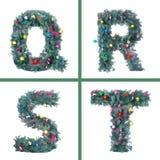 Nice Christmas Alphabet. Beautiful holiday Stock Images