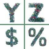 Nice Christmas Alphabet Royalty Free Stock Image