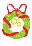 Nice christmas garland. Illustration of nice christmas garland, decoration, isolated on white Stock Photo