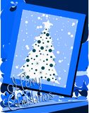 Nice Christmas greeting card in blue Royalty Free Stock Images