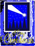 Nice Christmas greeting card in blue Stock Image