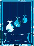 Nice Christmas greeting card in blue Royalty Free Stock Photo