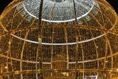 Nice Christmas detail. Nice Christmas lights photo detail royalty free stock image