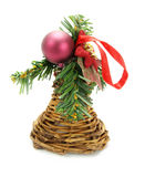 Nice Christmas ornament isolated on white Stock Photo