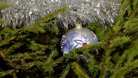 A nice christmas tree ornament zoom out stock footage