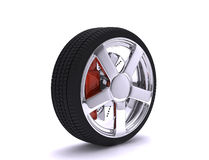 Nice chrome wheel Royalty Free Stock Image