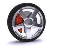 Nice chrome wheel Royalty Free Stock Photos