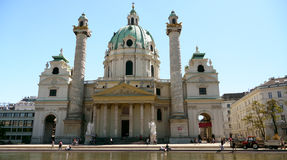 Nice church in Vienna Stock Photography