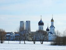 Two beautiful churches in Klaipeda town, Lithuania Royalty Free Stock Photos