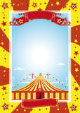 Nice circus poster royalty free illustration