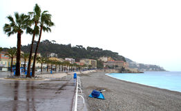 Nice city beach,French Riviera Stock Photography
