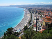 Nice city beach panoramic view, France Stock Photo