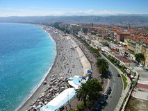 Nice city bird eye view, France Stock Image