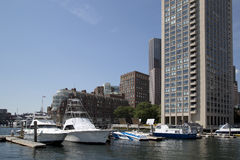 Nice city Boston royalty free stock image