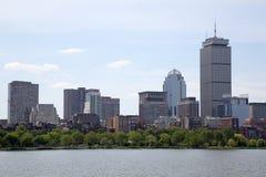Nice city Boston skyline in Mass. Beautiful city Boston , Mass USA royalty free stock images