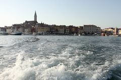 Nice city with harbor Stock Photos