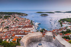 Nice City Hvar in Hvar Island in Croatia Royalty Free Stock Photography