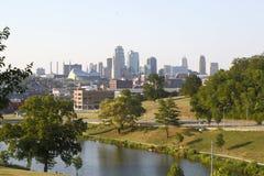 Nice city Kansas view Missouri state USA royalty free stock photos
