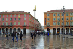 Nice city square,France Stock Images