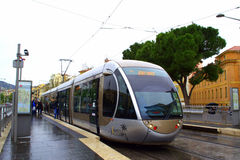 Nice city tram,France Stock Image