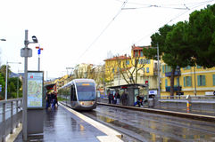 Nice city tram,France Stock Photography