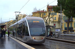 Nice city tram,France Stock Images