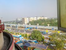 Nice City from window. Kolkata, West Bengal, India- December, 17, 2017- Nice city, shoot from window Royalty Free Stock Image