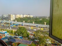 Nice City from window. Kolkata, West Bengal, India- December, 17, 2017- Nice city, shoot from window Stock Photography