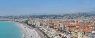 Nice cityscape, French Riviera Stock Images