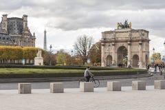 Nice cityscape of Paris center stock photo