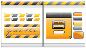 Nice and clean construction web interface Stock Images