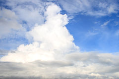 Nice and clear blue sky with white clouds Royalty Free Stock Photos